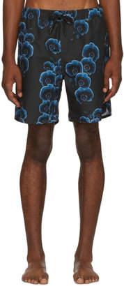 Saturdays NYC Black Timothy Orchid Swim Shorts