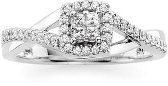 JCPenney MODERN BRIDE 1/10 CT. T.W. Diamond 10K White Gold Princess-Cut Quad Promise Ring