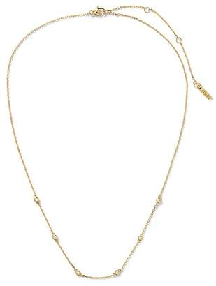 Banana Republic Everyday Luxuries 14k Gold-Plated CZ Stone Necklace