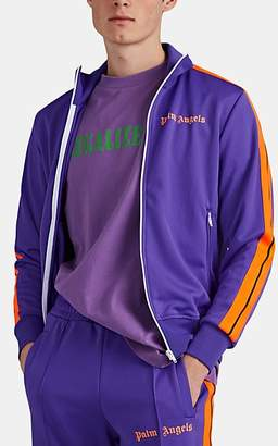 Palm Angels Men's Logo Tech-Jersey Track Jacket - Purple