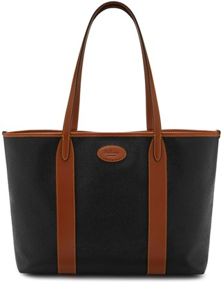 b37b495c8d3c Mulberry Bayswater Tote Black and Cognac Scotchgrain