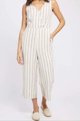 Gentle Fawn Stripe Linen Jumpsuit