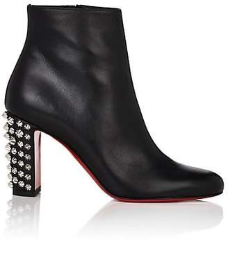 Christian Louboutin Women's Suzi Leather Ankle Boots - Black, Silver