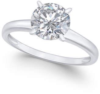 Arabella 14k White Gold Ring, Swarovski Zirconia Solitaire Engagement Ring (3-1/3 ct. t.w.)