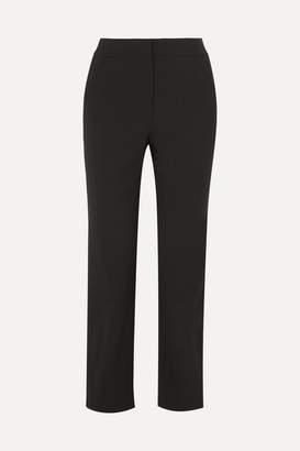 Giorgio Armani Wool-blend Slim-leg Pants - Black