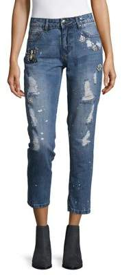 Lord & Taylor Design Lab Boyfriend Cotton Jeans