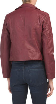 BB Dakota Juniors Faux Leather Belted Jacket