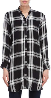 Kensie Plaid Longline Shirt