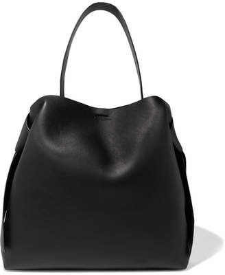 Acne Studios Musubi Maxi Knotted Leather Shoulder Bag - Black