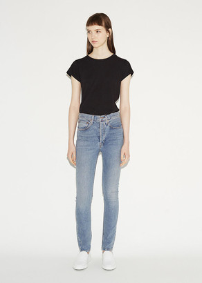 RE/DONE Light Wash Stretch Jean $250 thestylecure.com