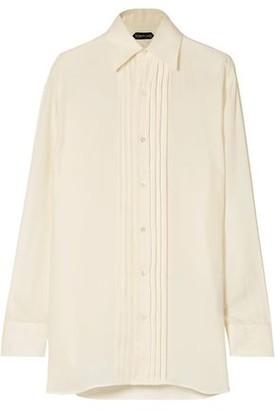 Tom Ford Pleated Cupro-Twill Shirt
