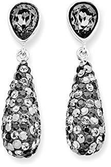 Swarovski Noelani Damen - 35 MM Elements Earrings Rhodium-Plated Brass and Grey Crystal - 514101