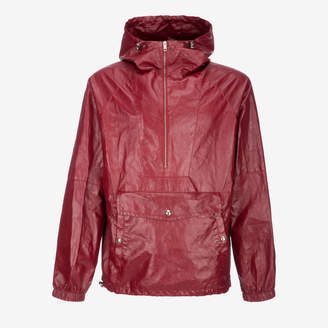 Bally Packable Hooded Leather Parka Jacket