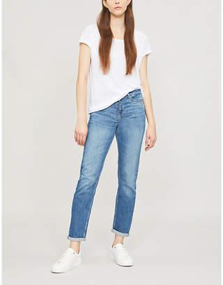 The White Company Brompton boyfriend-fit mid-rise jeans
