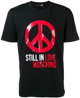Love Moschino peace symbol T-shirt