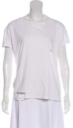 Anine Bing Distressed Short Sleeve Top
