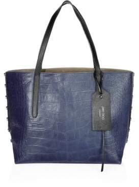 Jimmy Choo Twist East West Croc-Embossed Leather Tote