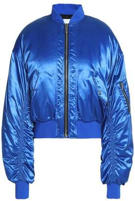 MSGM Ruched Satin Bomber Jacket