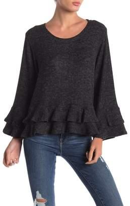 Anama Ruffle Sleeve Knit Top