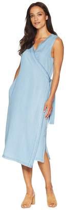 NYDJ Wrap Dress w/ Release Hem Women's Dress