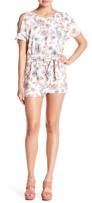 Jessica Simpson Dolly Cold Shoulder Print Romper