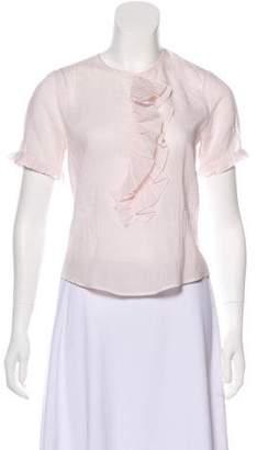 Chloé Striped Short Sleeve Top