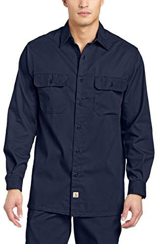 Carhartt Men's Twill Long Sleeve Work Shirt Button Front S224