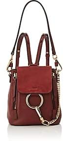 Chloé Women's Faye Mini Leather & Suede Backpack-Red