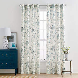 Liz Claiborne Quinn Jacobean Grommet-Top Curtain Panel