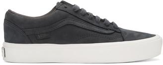 Vans Navy Nubuck Old Skool Lite LX Sneakers $120 thestylecure.com
