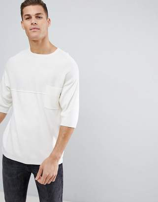 ONLY & SONS Short Sleeve Knit With Chest Pocket