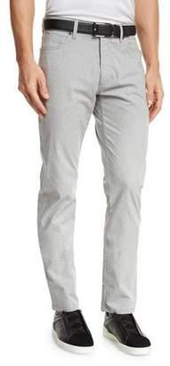 Ermenegildo Zegna Melange Five-Pocket Jeans, Silver Gray $375 thestylecure.com