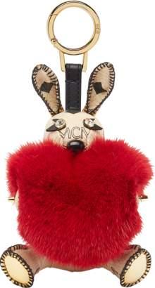 MCM Rabbit Fur Heart Animal Charm
