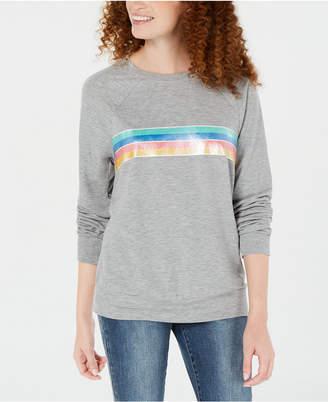 Rebellious One Juniors' Rainbow-Stripe Top