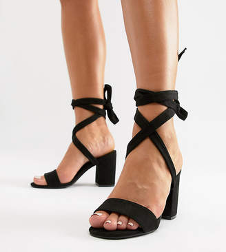 81aaa901d9aa Park Lane Parklane Wide Fit Tie Leg Block Heeled Sandals