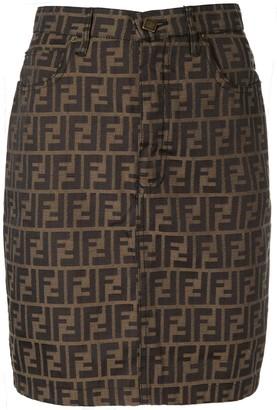 Fendi Pre-Owned FF logo mini skirt
