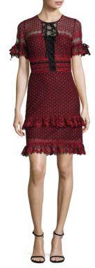 Parker Emilia Ruffle Lace Dress $375 thestylecure.com