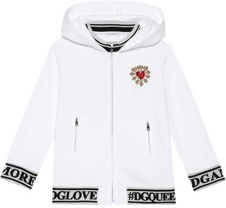 Dolce & Gabbana Embellished Heart cotton hoodie
