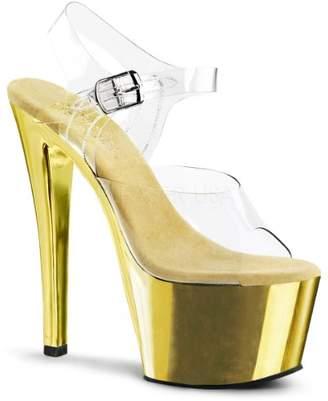 Pleaser USA Women's Sky308/C/Gch Platform Dress Sandal