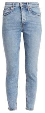 RE/DONE Comfort Stretch High-Rise Ankle Skinny