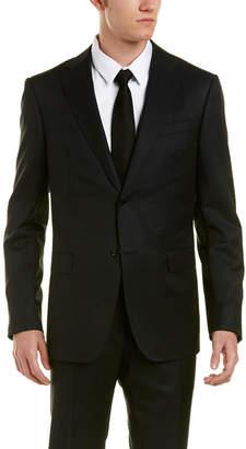 Ermenegildo Zegna Slim Fit Wool Suit With Flat Front Pant