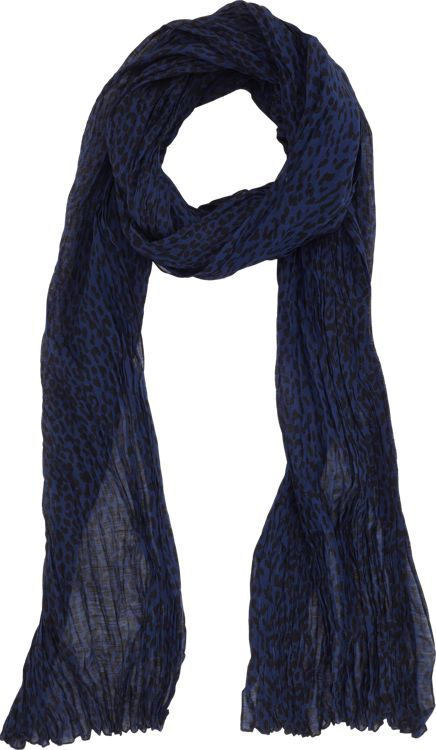 Saint Laurent Baby Cat-Print Scarf-Blue