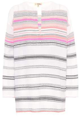 Lemlem Striped cotton-blend top