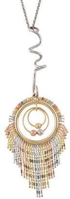 Eddie Borgo Tri-Color Circle Pendant Necklace