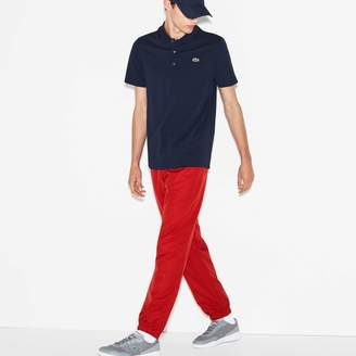Lacoste Men's SPORT Tennis trackpants in diamond weave taffeta