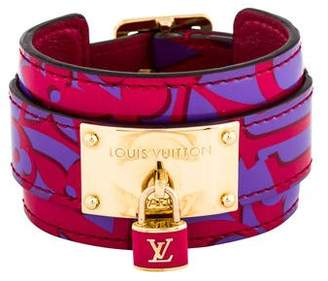 Louis Vuitton Patent Leather Wrap Bracelet