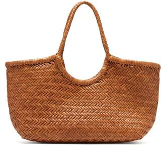 Dragon Optical Diffusion - Nantucket Woven Leather Basket Bag - Womens - Tan