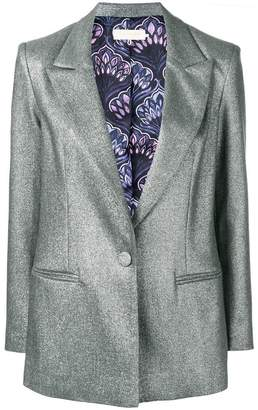 L'Autre Chose metallic-effect blazer