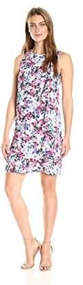 Lark & Ro Women's Sleeveless Sheath Dress with Cascading Ruffle