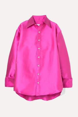 Matthew Adams Dolan - Oversized Satin Shirt - Fuchsia